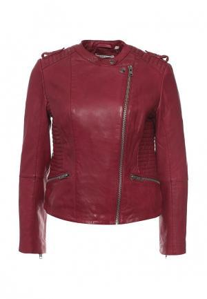 Куртка кожаная Naf. Цвет: бордовый