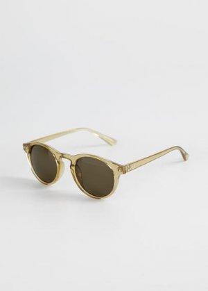 Солнцезащитные очки в пластиковой оправе - Porter Mango. Цвет: зеленый