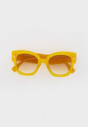 Очки солнцезащитные Fendi FF 0458/G/S 40G. Цвет: желтый