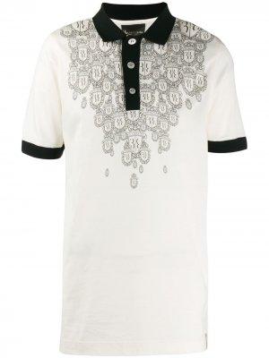 Рубашка-поло с принтом Billionaire. Цвет: белый