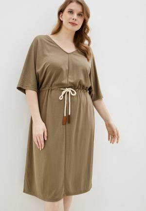 Платье Junarose. Цвет: хаки