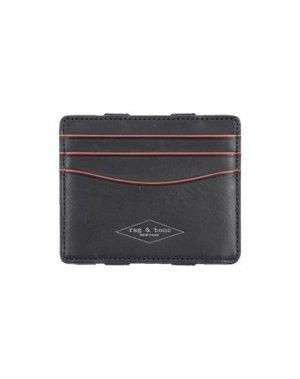 Бумажник RAG & BONE. Цвет: черный