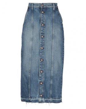 Джинсовая юбка DENHAM. Цвет: синий