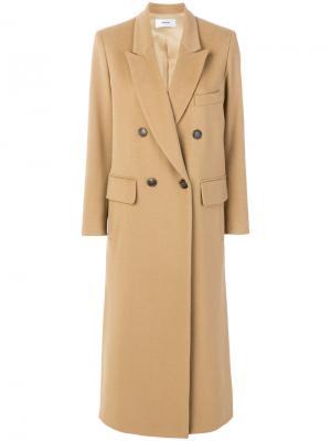 Пальто мешковатого кроя Mauro Grifoni. Цвет: коричневый