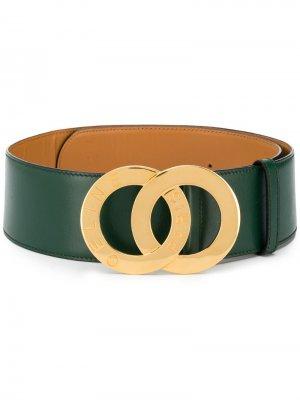 Ремень с металлическим логотипом Céline Pre-Owned. Цвет: зеленый