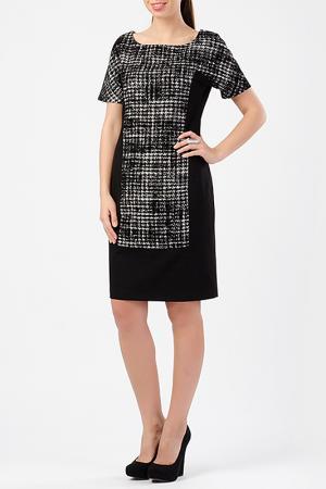 Платье TUZUN. Цвет: черный, белый