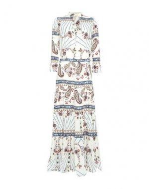 Длинное платье MELISSA ODABASH. Цвет: белый