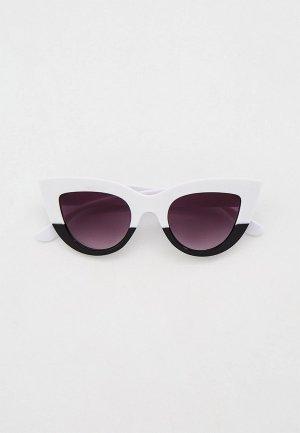 Очки солнцезащитные Bocciolo. Цвет: белый