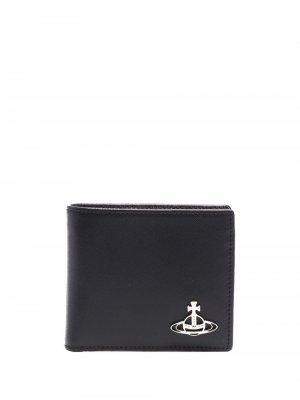 Бумажник с логотипом Vivienne Westwood. Цвет: черный