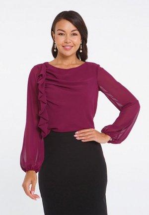 Блуза Eva. Цвет: бордовый