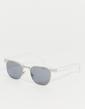 Солнцезащитные очки в прозрачной квадратной оправе -Очистить AJ Morgan