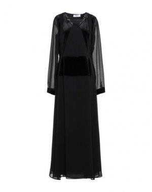 Длинное платье BLUGIRL BLUMARINE. Цвет: черный