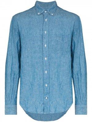 Рубашка из ткани шамбре Gitman Vintage. Цвет: синий