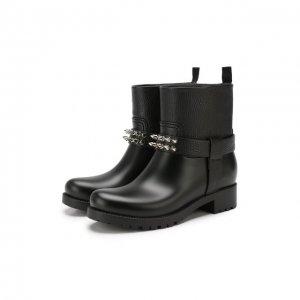 Кожаные ботинки Philipp Plein. Цвет: чёрный
