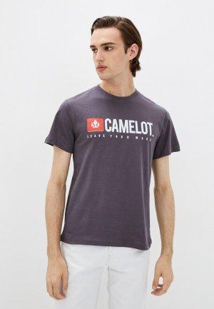 Футболка Camelot. Цвет: фиолетовый