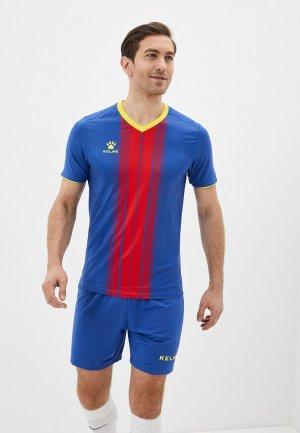 Костюм спортивный Kelme Short sleeve football uniform. Цвет: синий