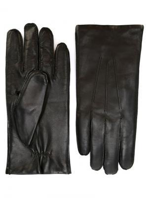 Классические перчатки Orciani. Цвет: черный