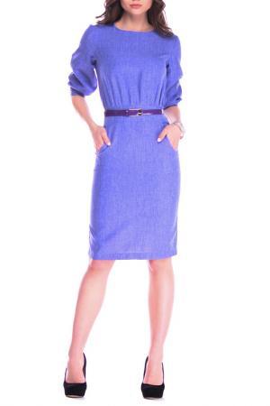 Стильное офисное платье REBECCA TATTI. Цвет: фиолетовый