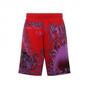 Хлопковые шорты Givenchy. Цвет: красный