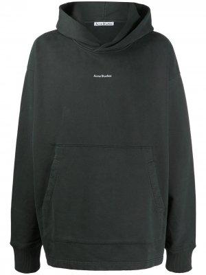 Толстовка с капюшоном и логотипом Acne Studios. Цвет: черный