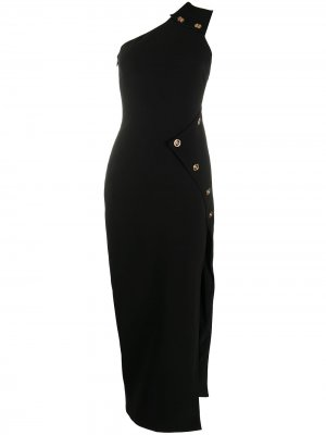Medusa motif one-shoulder evening dress Versace. Цвет: черный