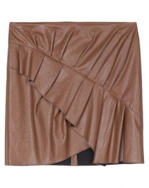 Мини-юбка ..,MERCI. Цвет: коричневый