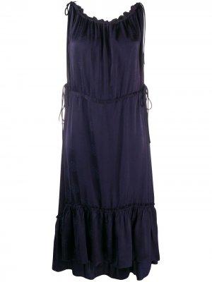 Платье со сборками By Malene Birger. Цвет: синий