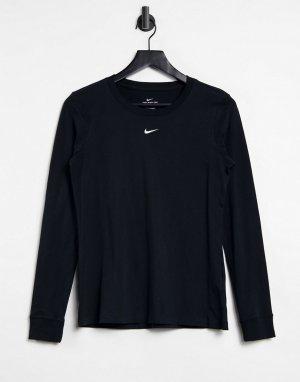 Черный лонгслив MOVE TO ZERO Essential-Черный цвет Nike