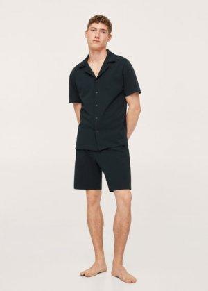 Комплект короткая пижама из хлопка - Llafranc Mango. Цвет: темно-синий