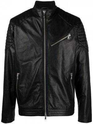 Байкерская куртка с нашивкой-логотипом Automobili Lamborghini. Цвет: черный