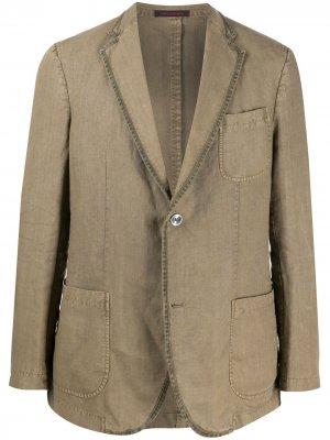 Пиджак строгого кроя The Gigi. Цвет: зеленый
