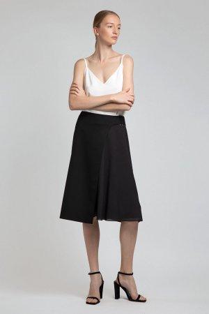 Юбка миди с асимметричным дизайном VASSA&Co. Цвет: черный