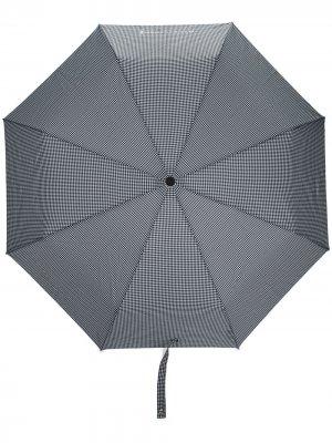 Складной зонт Ayr в клетку гингем Mackintosh. Цвет: черный