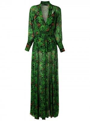 Длинное платье Floresta Eva. Цвет: черный