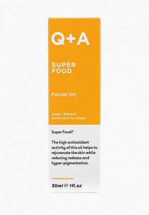 Масло для лица Q+A SUPER FOOD, 30 мл. Цвет: прозрачный