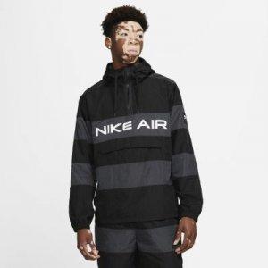 Мужской анорак без подкладки Nike Air - Черный