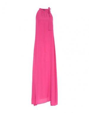 Длинное платье 1-ONE. Цвет: фуксия