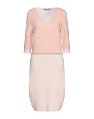 Платье до колена D.EXTERIOR. Цвет: розовый