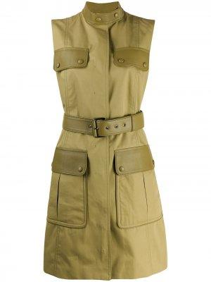 Куртка-жилет с карманами карго Salvatore Ferragamo. Цвет: зеленый