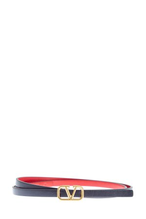 Тонкий ремень с макро-пряжкой VLOGO VALENTINO GARAVANI. Цвет: черный
