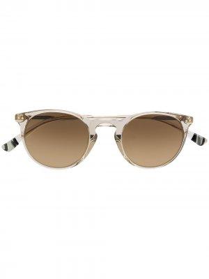Солнцезащитные очки X-Berg MT в круглой оправе Etnia Barcelona. Цвет: золотистый