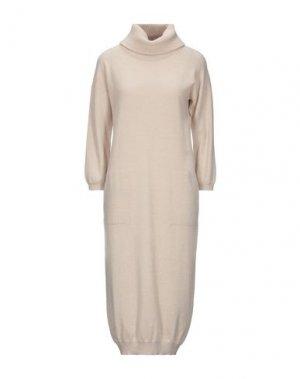 Платье до колена CAPPELLINI by PESERICO. Цвет: песочный