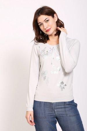 Пуловер Pezzo. Цвет: серый