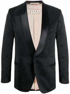 Вечерний пиджак с цветочной вышивкой Marni. Цвет: черный