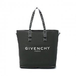 Текстильная сумка-шопер Light 3 Givenchy. Цвет: чёрный