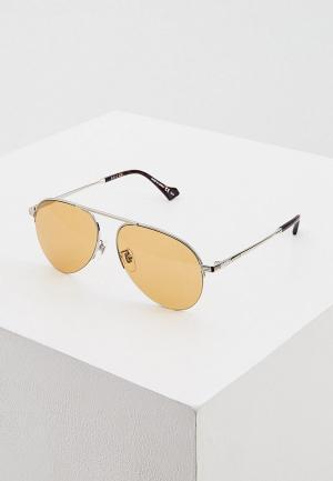 Очки солнцезащитные Gucci GG0742S 004. Цвет: золотой