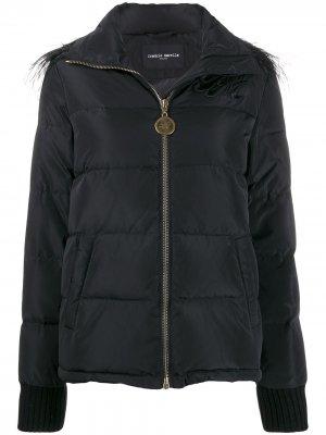 Декорированная куртка-пуховик Frankie Morello. Цвет: черный