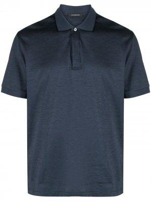 Рубашка поло с короткими рукавами Ermenegildo Zegna. Цвет: синий