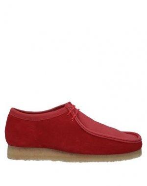 Полусапоги и высокие ботинки CLARKS ORIGINALS. Цвет: красный