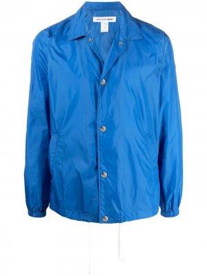 Куртка-рубашка с принтом Comme Des Garçons Shirt. Цвет: синий
